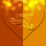 Beautiful Happy Valentines day card heart with let Stock Photos