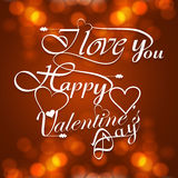 Beautiful Happy Valentines Day Hand Lettering styl Stock Image