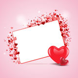 Beautiful happy valentine's day love card. EPS Royalty Free Stock Photos