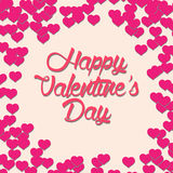 Beautiful Happy Valentine Vector Card Royalty Free Stock Image