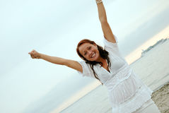Beautiful happy woman Royalty Free Stock Photography