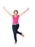Beautiful happy woman celebrating success  being a winner Royalty Free Stock Photo