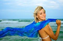 Beautiful happy woman enjoys freedom Stock Photo