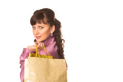 Beautiful happy woman with many shopping bags. Shopping concept. Royalty Free Stock Photography