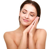 Beautiful happy woman with perfect clean skin Royalty Free Stock Photo