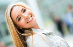 Beautiful happy woman Stock Images