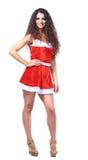 Beautiful happy woman in Santa Claus Stock Image