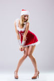 Beautiful happy woman in Santa Claus clothes Royalty Free Stock Image