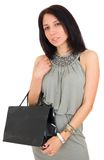 Beautiful happy woman with shopping bag Stock Photos