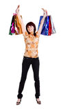 Beautiful happy woman with shopping bags Stock Photo