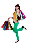 Beautiful happy woman with shopping bags Royalty Free Stock Photos