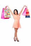 Beautiful happy woman with shopping bags Royalty Free Stock Photography