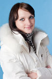 Beautiful happy woman in winter clothes. Stock Photography