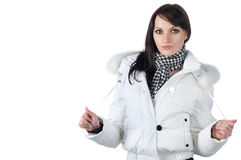 Beautiful happy woman in winter clothes. Royalty Free Stock Photography