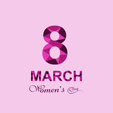 Beautiful happy women's day for 8 march text holiday Stock Image