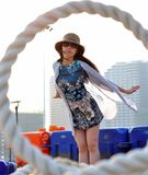 Beautiful Happy Young Asian Chinese Woman or Girl Stock Images