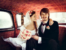 Beautiful happy young bride and groom Royalty Free Stock Images