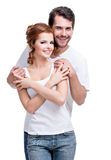 Beautiful happy young couple. royalty free stock images