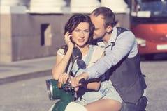 Beautiful happy young couple stock photo