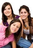 Beautiful happy and young female friends Stock Images