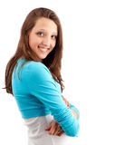 Beautiful happy young girl with tothy smile Royalty Free Stock Images