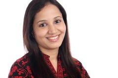 Beautiful happy young Indian girl Stock Photo