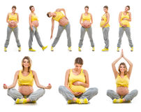 Beautiful happy young pregnant woman Stock Images