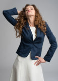 Beautiful happy young woman with curly hair Royalty Free Stock Photography