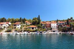 Beautiful harbor at Adriatic sea. Croatia Royalty Free Stock Image