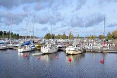 Beautiful harbor of Lappeenranta Royalty Free Stock Photos