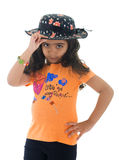 Beautiful Hat Girl Stock Photos