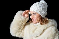 beautiful hat wearing woman Στοκ εικόνες με δικαίωμα ελεύθερης χρήσης