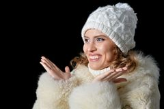 beautiful hat wearing woman Στοκ φωτογραφίες με δικαίωμα ελεύθερης χρήσης