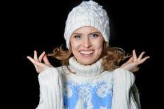 beautiful hat wearing woman Στοκ Φωτογραφία