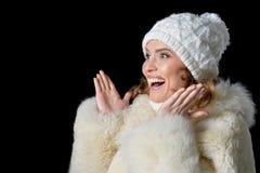 beautiful hat wearing woman Στοκ Εικόνα