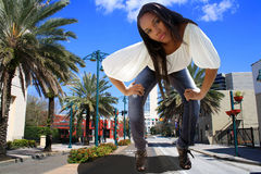 Beautiful Hatian Giant in Downtown Orlando Stock Image