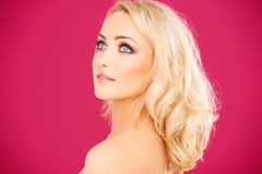 Beautiful haughty young blond woman Royalty Free Stock Image