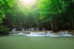 Beautiful hauy mae kamin water falls in deep forest kanchanaburi Stock Image