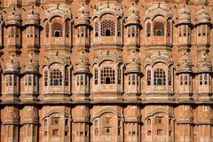 Beautiful Hawa Mahal facade in Jaipur, India Royalty Free Stock Image