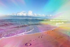 Beautiful Hawaiian Abstract Beach Art