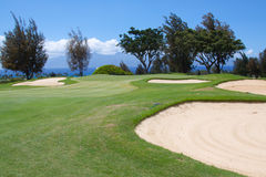Beautiful Hawaiian Golf Hole Stock Image