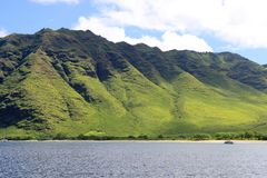 Beautiful Hawaiian Mountains Stock Photography
