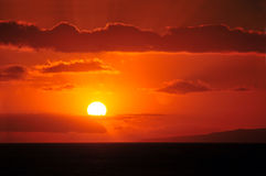 Beautiful Hawaiian Sunset Stock Images