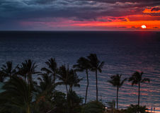Beautiful Hawaiian Sunset Royalty Free Stock Photography