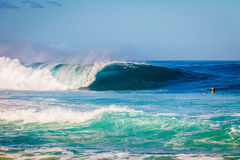 Beautiful Hawaiian Waves on the North Shore Royalty Free Stock Images