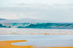 Beautiful Hawaiian Waves on the North Shore Stock Photography