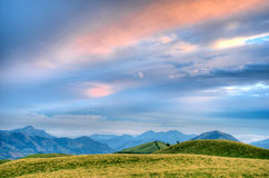 Beautiful hdr landscape. With mountains and cloudscape Stock Photo