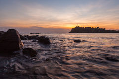 Beautiful HDR seascape at sunset Royalty Free Stock Images