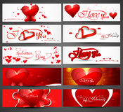 Beautiful header colorful for valentine's day banners design Royalty Free Stock Photos