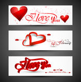 Beautiful header colorful for valentine's day heart banners Stock Image